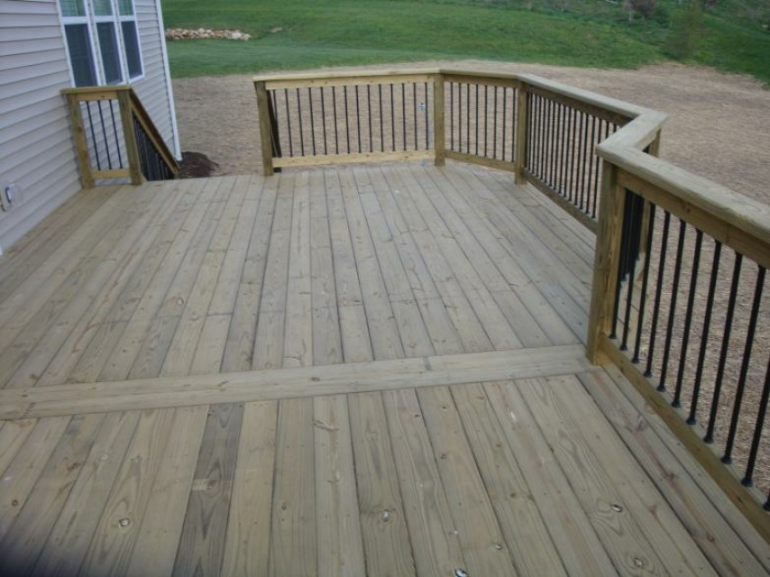16x12 Treated Deck Labor Amp Materials Built In Akron