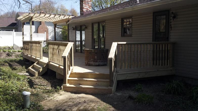 treated deck & pergola pic - green ohio