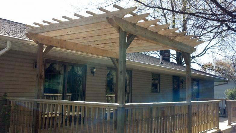 treated pergola - green ohio