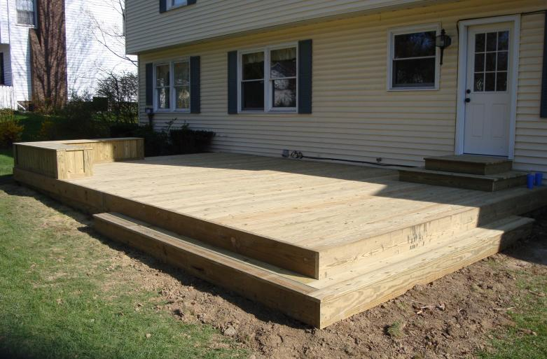 low level treated deck hudson
