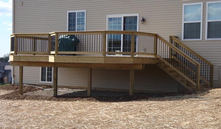 treated deck aluminum ballusters green ohio