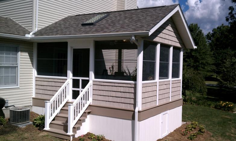 screened porch deck