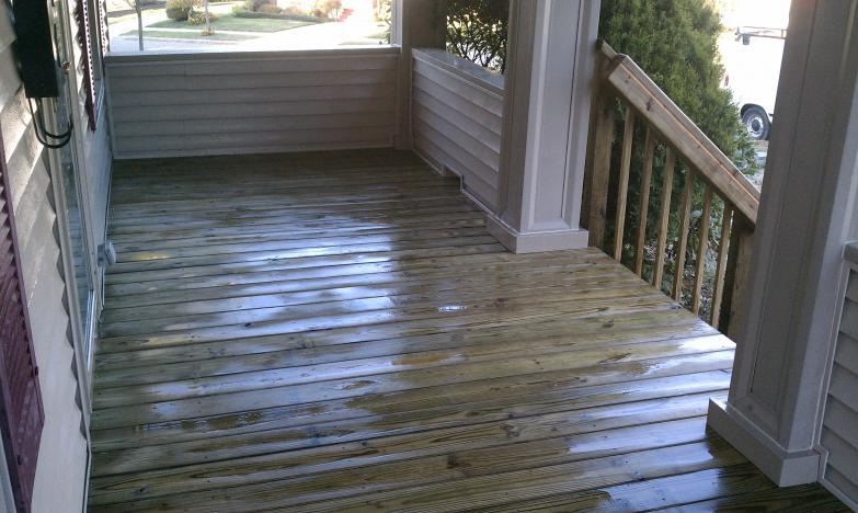 treated front porch .2 - akron, ohio