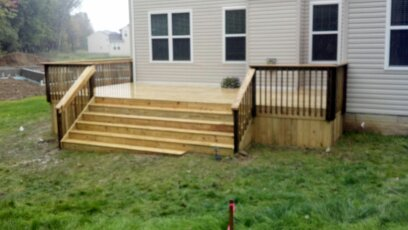 28x14 treated deck - copley, ohio