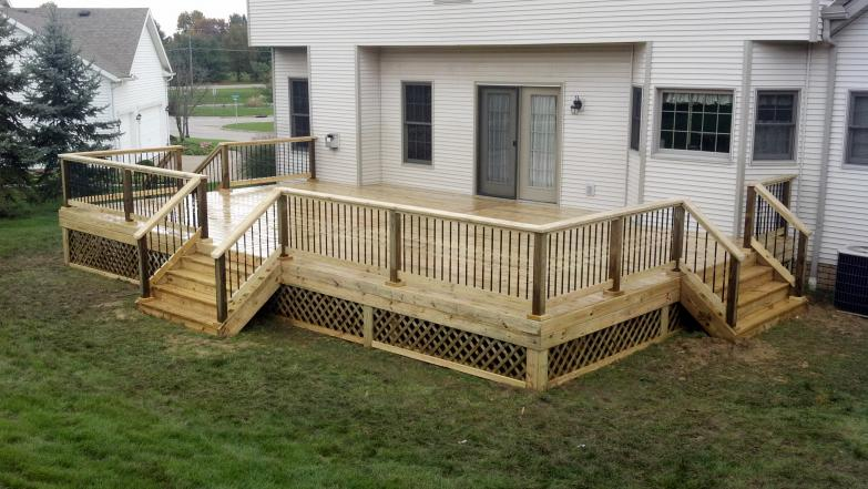 34x20 treated deck in green